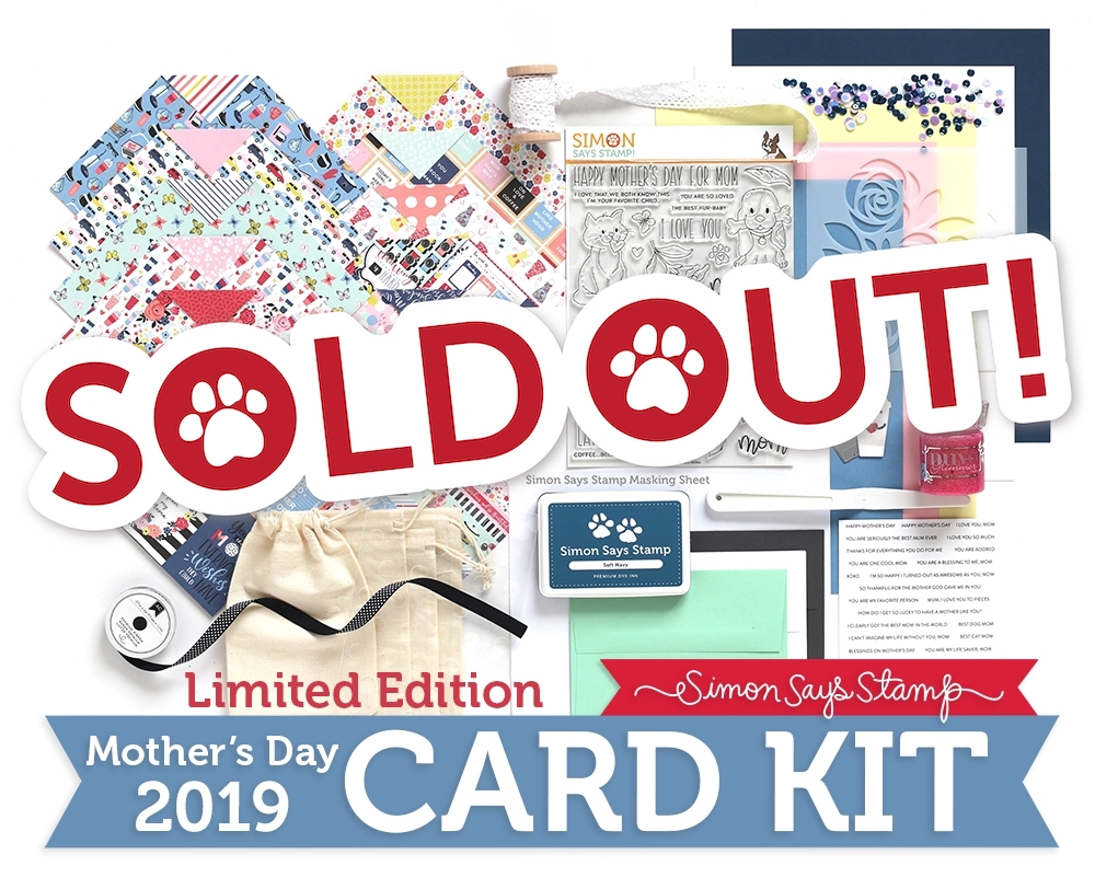 Limited Edition Simon Says Stamp Card Kit FOR ALL MOMS 2019 sssmdck19