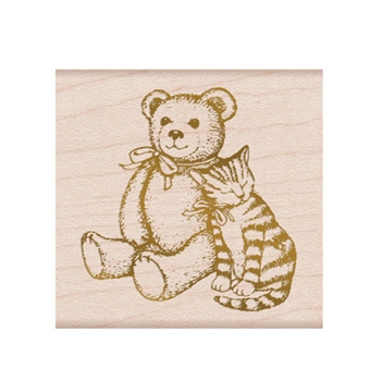 Hero Arts Rubber Stamp FROM THE VAULT BEAR AND KITTY F6351
