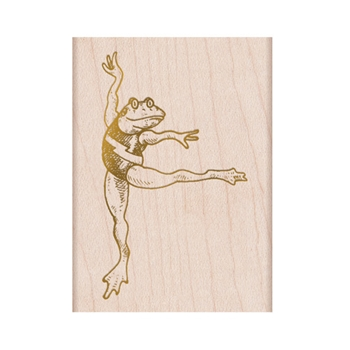 Hero Arts Rubber Stamp FROM THE VAULT DANCING FROG F6349