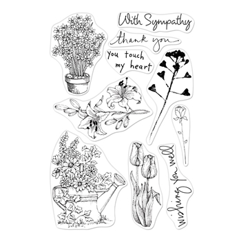 Hero Arts Clear Stamps FROM THE VAULT FLOWERS CM359