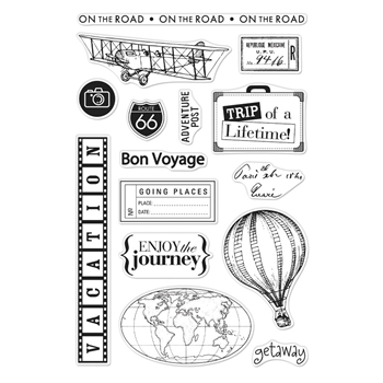 Hero Arts Clear Stamps FROM THE VAULT TRAVEL CM358