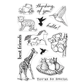 Hero Arts Clear Stamps FROM THE VAULT REALISTIC ANIMALS CM356
