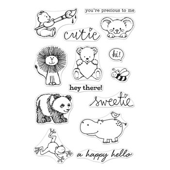 Hero Arts Clear Stamps FROM THE VAULT CUTE ANIMALS CM355