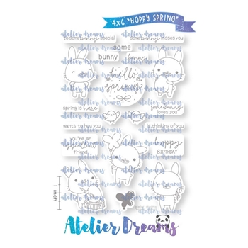 Atelier Dreams HOPPY SPRING Clear Stamp Set ad090