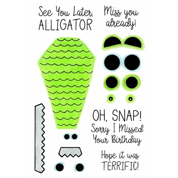 Inky Antics ALLIGATOR MAKER Clear Stamp Set 11456mc