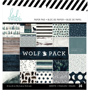 Heidi Swapp WOLF PACK 6 x 6 Paper Pack 314694