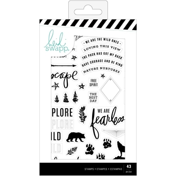 Heidi Swapp WOLF PACK Clear Stamp Set 314697
