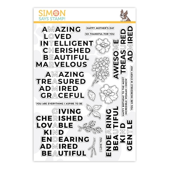 Simon Says Clear Stamps INCREDIBLE WOMAN sss201975