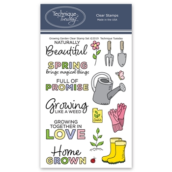 Technique Tuesday GROWING GARDEN Clear Stamps 2771