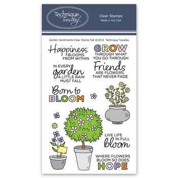 Technique Tuesday GARDEN SENTIMENTS Clear Stamps 2777