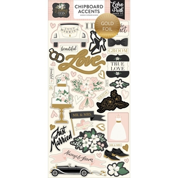 Echo Park WEDDING DAY Chipboard Accents wd181021