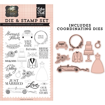 Echo Park OUR LOVE STORY Die And Stamp Set wd181044