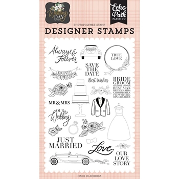 Echo Park OUR LOVE STORY Clear Stamps wd181045