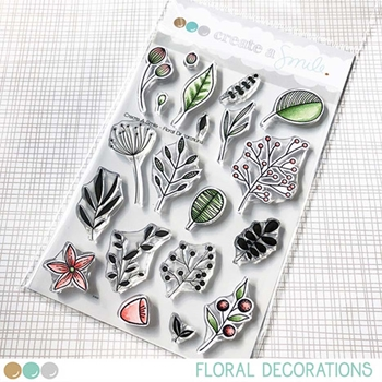 Create A Smile FLORAL DECORATIONS Clear Stamps clcs108