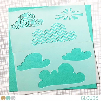 Create A Smile CLOUDS Stencil scs32