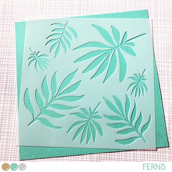 Create A Smile FERNS Stencil scs33