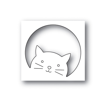 Simon Says Stamp PEEKING CAT Wafer Die s658 Rest and Refresh