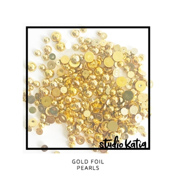 Studio Katia Gold Foil Pearls