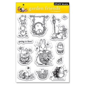 Penny Black Clear Stamps GARDEN FRIENDS Hedgy 30-021 Preview Image