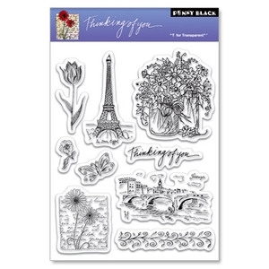 Penny Black Clear Stamps THINKING OF YOU 30-023