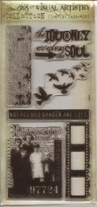 Tim Holtz Visual Artistry LOST AND FOUND Clear Stamps Set CSS25887