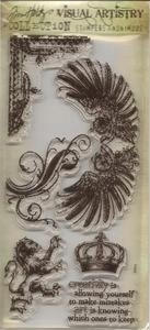Tim Holtz Visual Artistry REGAL FLOURISH Clear Stamps Set CSS25894