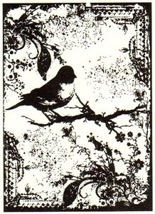 Tim Holtz Rubber Stamp TATTERED SPARROW Bird Stampers Anonymous P4-1404