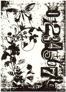 Tim Holtz Rubber Stamp FAIRY GARDEN Stampers Anonymous P4-1402 zoom image