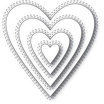 Memory Box - Double Stitch Happy Heart Cutout