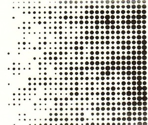 Tim Holtz Rubber Stamp DOT MATRIX Background Stampers Anonymous P1-1408