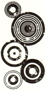 Tim Holtz Rubber Stamp BULLSEYE Circle Stampers Anonymous P2-1409 zoom image