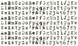 Tim Holtz Rubber Stamp ALPHA TYPE Stampers Anonymous P5-1412 Preview Image
