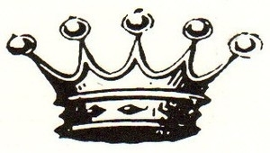 Tim Holtz Rubber Stamp ROYALTY Crown Stampers Anonymous E2-1415