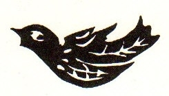 Tim Holtz Rubber Stamp TATTOO BIRD Stampers Anonymous D4-1421
