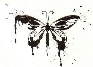 Tim Holtz Rubber Stamp SPLATTERFLY Butterfly Stampers Anonymous M3-1417 Preview Image