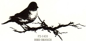 Tim Holtz Rubber Stamp BIRD BRANCH Stampers Anonymous P2-1431