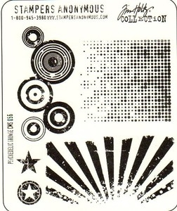Tim Holtz Cling Rubber Stamps PSYCHEDELIC GRUNGE Stampers Anonymous CMS056