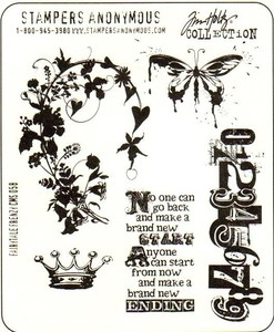 Tim Holtz Cling Rubber Stamps FAIRYTALE FRENZY Stampers Anonymous Preview Image