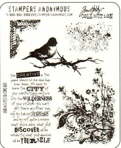 Tim Holtz Cling Rubber Stamps URBAN TAPESTRY Stampers Anonymous CMS061