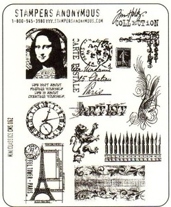 Tim Holtz Cling Rubber Stamps MINI CLASSICS CMS062