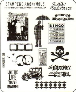 Tim Holtz Cling Rubber Stamps MINI MUSE Stampers Anonymous CMS063