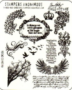 Tim Holtz Cling Rubber Stamps MINI ORNATES Stampers Anonymous CMS064 Preview Image