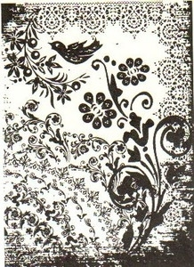 Tim Holtz Cling Rubber ATC Stamp TATTOO YOU Stampers Anonymous COM032