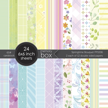Memory Box Springtime Bouquet Patterned Paper