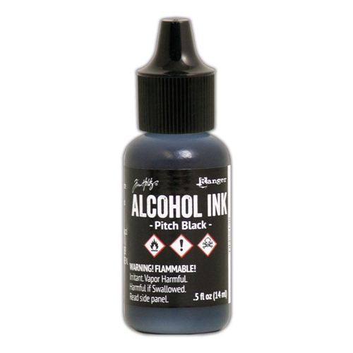 Tim Holtz Alcohol Ink PITCH BLACK Adirondack Ranger TIM22138 Preview Image