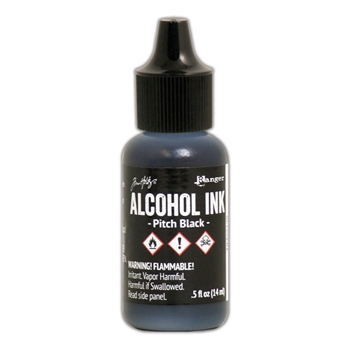 Tim Holtz Alcohol Ink PITCH BLACK Adirondack Ranger TIM22138