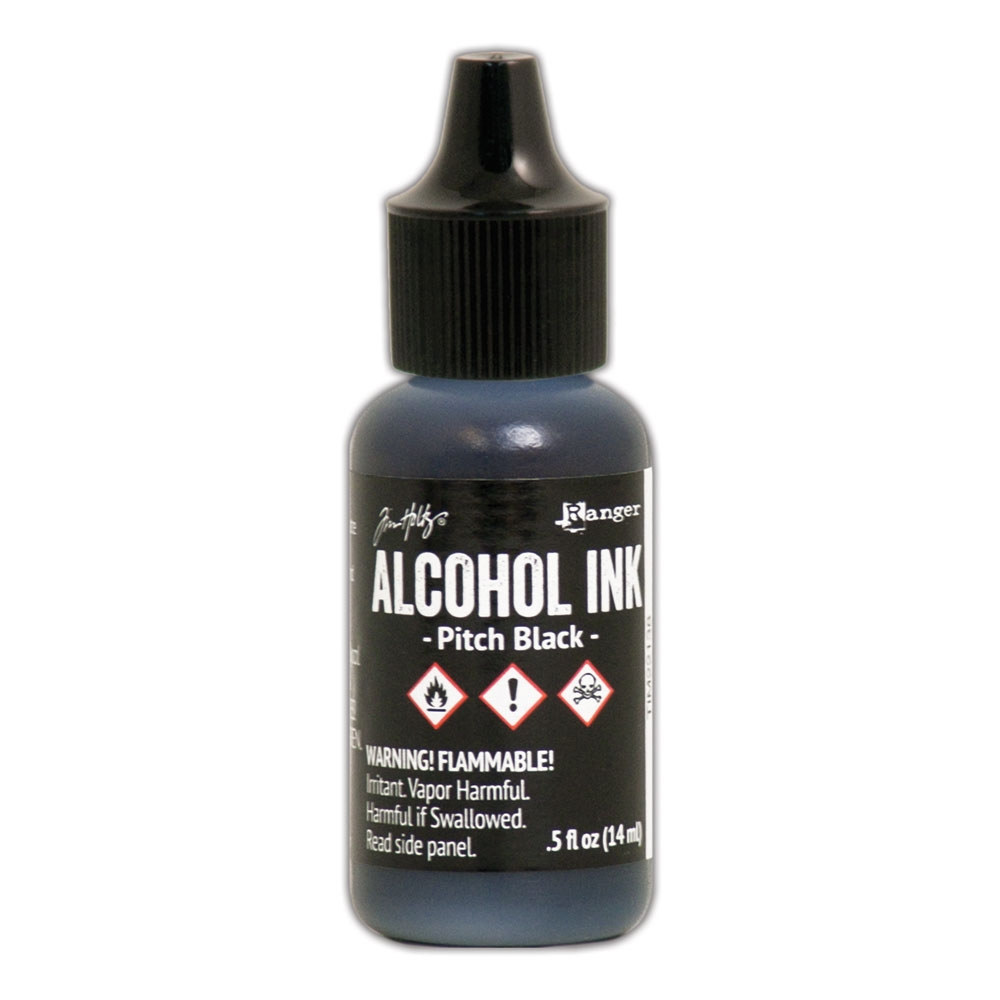 Tim Holtz Alcohol Ink PITCH BLACK Adirondack Ranger TIM22138 zoom image