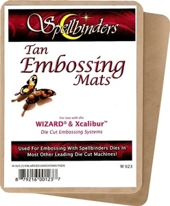 W-023 Spellbinders WIZARD TAN EMBOSSING MATS 5 x 7 twin pack zoom image