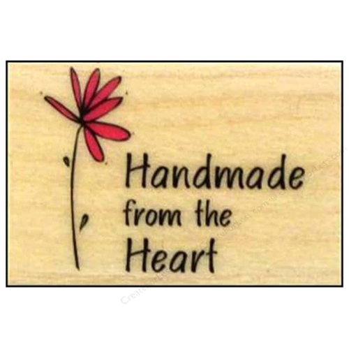 Hero Arts Rubber Stamp HANDMADE FROM THE HEART a3092 Preview Image