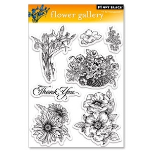 Penny Black Clear Stamps FLOWER GALLERY 30-031